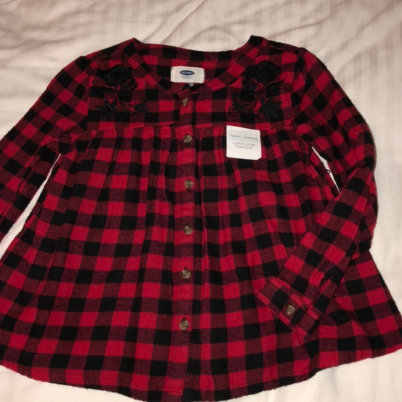 10803710 Shirts & Tops | Toddler Girls Red And Black Checkered Shirt | Poshmark